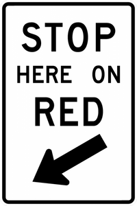 R10-6-Stop Here on Red Sign - Municipal Supply & Sign Co.
