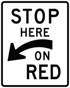R10-6a-Stop Here on Red Sign