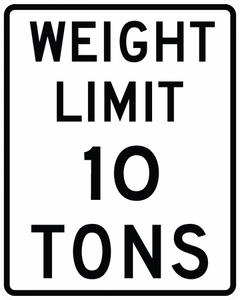 R12-1-Weight Limit XX Tons