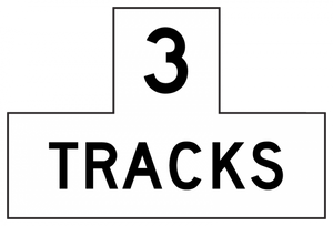 R15-2P-Number of Tracks (plaque) - Municipal Supply & Sign Co.