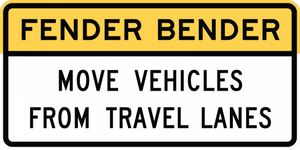 R16-4-Fender Bender Move Vehicles Sign - Municipal Supply & Sign Co.