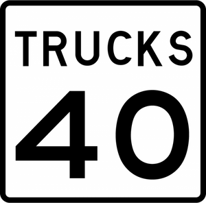 R2-2P-Truck Speed Limit Sign (plaque)