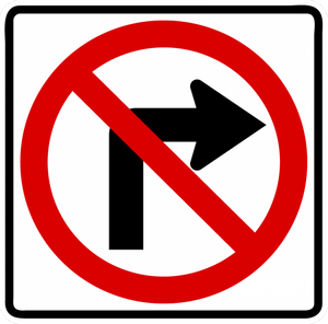 R3-1-No Right Turn Sign