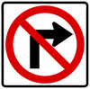 R3-1-No Right Turn Sign - Municipal Supply & Sign Co.