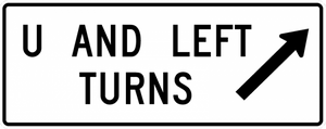 R3-24a-U and Left Turns with arrow Sign