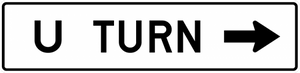 R3-25b-All Turns (U Turn) with arrow Sign - Municipal Supply & Sign Co.