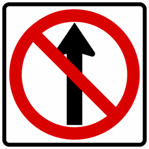 R3-27-Movement Prohibition Sign - Municipal Supply & Sign Co.