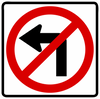 R3-2-No Left Turn Sign - Municipal Supply & Sign Co.