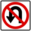 R3-4-No U-Turn Sign - Municipal Supply & Sign Co.
