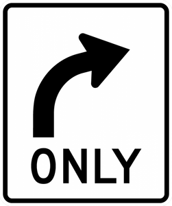 R3-5R-Mandatory Movement Lane Control Sign