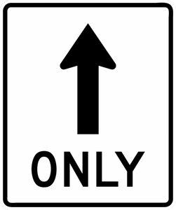 R3-5a-Mandatory Movement Lane Control Sign