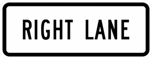 R3-5fP-Right Lane Sign (plaque)
