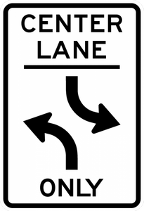 R3-9b-Two-Way Left Turn Only(post-mounted) Sign