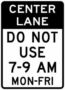 R3-9f-Reversible Lane Control(post-mounted) Sign