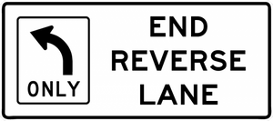 R3-9i-End Reverse Lane Sign