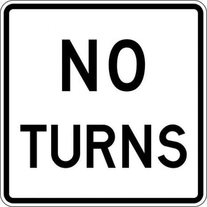 R3-3-No Turns Sign