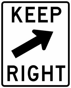 R4-7b-Keep Right Sign