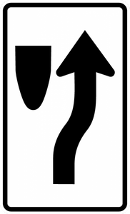 R4-7c-Narrow Keep Right Sign