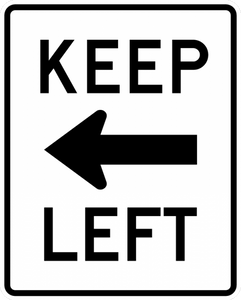 R4-8a-Keep Left Sign - Municipal Supply & Sign Co.