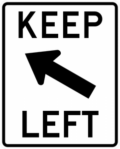 R4-8b-Keep Left Sign - Municipal Supply & Sign Co.