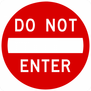 R5-1-Do Not Enter Sign - Municipal Supply & Sign Co.
