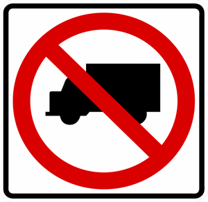 R5-2-No Trucks sign - Municipal Supply & Sign Co.