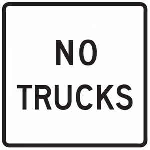 R5-2a-No Trucks sign
