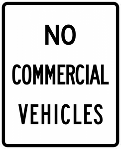 R5-4-No Commercial Vehicles Sign