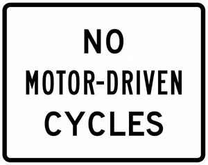 R5-8-No Motor-Driven Cycles Sign