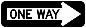 R6-1-One Way Sign