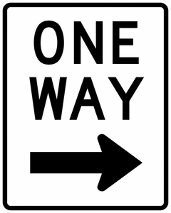 R6-2-One Way Sign - Municipal Supply & Sign Co.