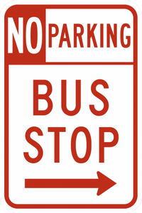 R7-107-No Parking Bus Stop Sign