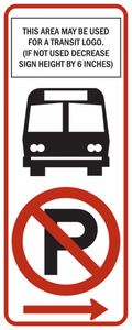 R7-107a-No Parking Sign (with transit logo)