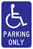 Handicap Parking Only Sign - Municipal Supply & Sign Co.
