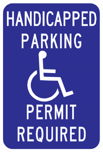 Handicap Parking Permit Required Sign - Municipal Supply & Sign Co.