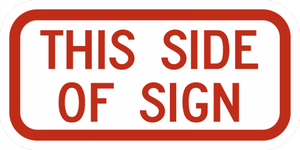 R7-202P-This Side of Sign (plaque) - Municipal Supply & Sign Co.