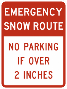 R7-203-Emergency Snow Route Sign