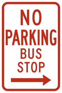 R7-7-No Parking Bus Stop Sign