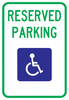 HR7-8-Handicap Reserve Parking Sign - Municipal Supply & Sign Co.