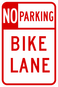 R7-9-No Parking Bike Lane