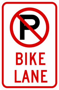 R7-9a-No Parking Bike Lane
