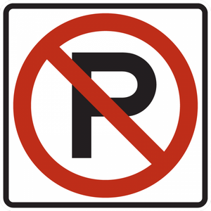R8-3-No Parking Sign (symbol)