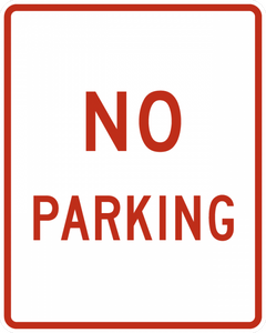 R8-3a-No Parking Sign - Municipal Supply & Sign Co.