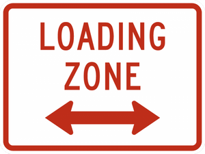 R8-3gP-Loading Zone Sign (plaque)