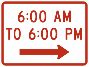 R8-3hPR-Times of Day Sign (plaque)