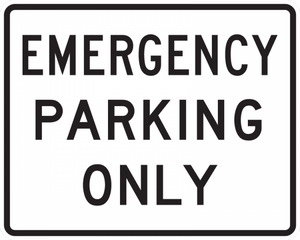 R8-4-Emergency Parking Only Sign
