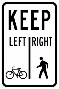 R9-7-Keep Left | Right Sign - Municipal Supply & Sign Co.