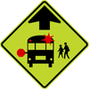S3-1-School Bus Stop Ahead Sign