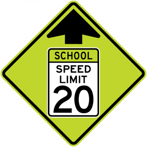 S4-5-Reduced School SpeedLimit Ahead Sign