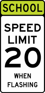 S5-1-SchoolSpeed Limit XX When Flashing Sign - Municipal Supply & Sign Co.